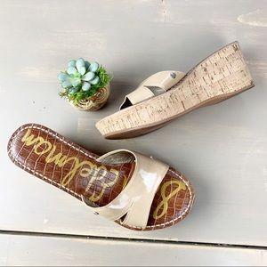 Sam Edelman Reid Cork Wedge Slide Sandal Nude 8